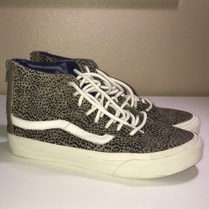 8e17a837aa28cc Vans Shoes - Vans Unisex SK8-Hi Slim Zip Cheetah Suede Sneakers
